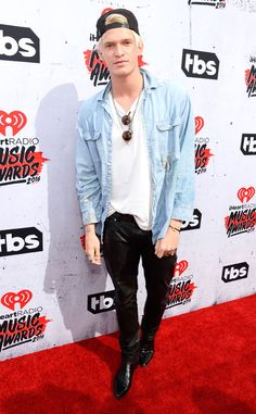 Cody Simpson from iHeartRadio Music Awards 2016 Red Carpet Arrivals  The triple threat kept his fashion simple in leather pants and a denim button down.