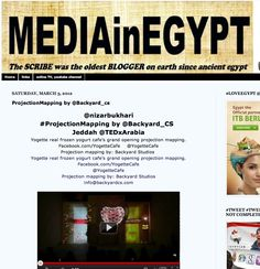 Media in egypt posted about Backyard studios 3d mapping projection show at yogette cafe celebration