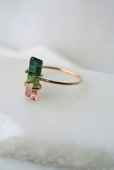 watermelon tourmaline ring from lili claspe #jewelry