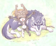 Midna and Wolf Link - The Legend of Zelda: Twilight Princess