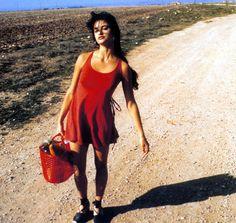 "Penelope Cruz's espadrilles, picture from the movie ""Jamon Jamon"""