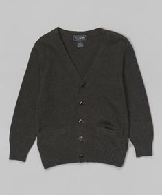 This Charcoal V-Neck Cardigan - Toddler & Boys is perfect! #zulilyfinds