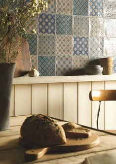 Chateaux Hand Made Tiles - The patterns and colours in the Chateaux Collection were inspired by an eclectic range of artefacts and places - Persia, Morocco, Turkey and France. Traditional Kitchen Tiles, Modern Kitchen Tiles, Kitchen Backsplash, Marocco Interior, Patchwork Tiles, Decorative Tile, Decoration, Kitchen Ideas, Kitchens