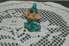 VINTAGE...ESTATE....PIXIE IN GREEN OUTFIT.......FIGURINE........JAPAN | eBay
