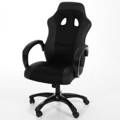 Designer Actona Race Study Chair / office chair Get into the driving seat to start working from home Black [. Cheap Office Chairs, Cheap Chairs, Car Office, Home Office, Office Desks, Chair Cushion Covers, Comfortable Office Chair, Bedroom Chair, Oversized Chair