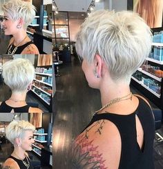 30 Hottest Pixie Haircuts 2019 - Classic to Edgy Pixie Hairstyles for women Short Pixie Haircut Edgy Pixie Hairstyles, Short Pixie Haircuts, Undercut Hairstyles, Short Hairstyles For Women, Short Hair Cuts, Curly Haircuts, Pixie Bob, Undercut Pixie, Hairstyles 2016