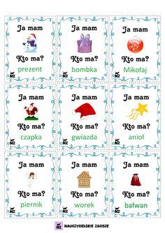 Boże Narodzenie, święta, pomoce dydaktyczne dla dzieci Polish Language, Preschool Christmas, Montessori, Literacy, Therapy, Teaching, How To Plan, Kids, Blog