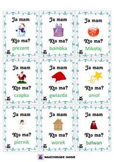 Preschool Christmas, Christmas Activities, Learn Polish, Polish Language, Speech And Language, Travel With Kids, Literacy, Montessori, Therapy