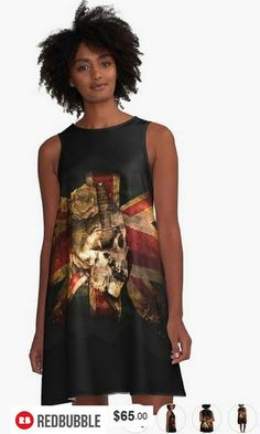 Skull Flag A-Line Dress #artbyurte