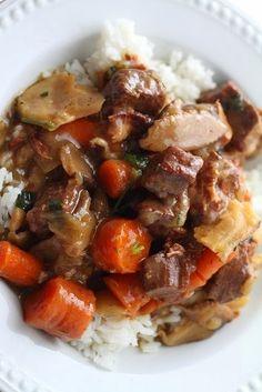 "Recipe | EASY ""Free-Style"" Crockpot Beef Stew ~ Slow Cooker Beef Burgundy. Your Way! ... #comfort food #favorite"