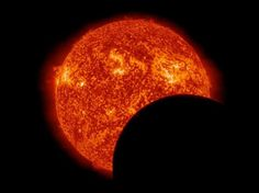 On 11 March 2013, NASA's Solar Dynamics Observatory was treated to two transits. This SDO image shows the moon crossing in front of the sun...