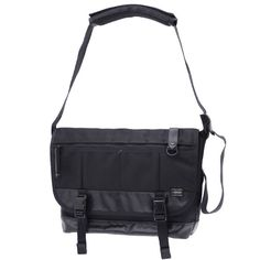 Porter Heat Messenger Bag. Ref : 703-06967. Size: W360/H300/D140. Color : Black. Main Fabric: Ballistic Nylon Canvas ( Nylon 100 %). Bottom of the bag : Tarpouline Lining Fabric: Nylon Canvas ( Nylon 100% ). Additional: Each bag comes with a porter orifinal Maglight as a zip puller.