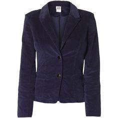 Vero Moda Kasabien Cord Classic Blazer Ea ($65) ❤ liked on Polyvore