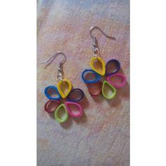Multi Coloured Flower hangings - light weight paper jewellery