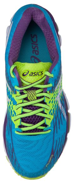 ASICS Women's Gel-Nimbus 17 Running Shoe, Blue Atol/White/Purple, 8.5 M US