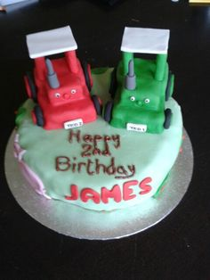 Double tractor Ted cake