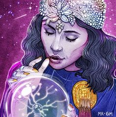 """""""Madame Marina - The Fortune Teller"""" - by Mr GM. Marina from the music video for 'Blue'"""
