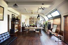 リビング(住うと仕事を楽しむ、レトロな雰囲気) - 書斎事例|SUVACO(スバコ)