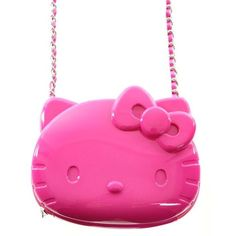 HELLO KITTY CROSS BODY BAG ❤ liked on Polyvore featuring bags, handbags, shoulder bags, hello kitty handbags, hello kitty shoulder bag, crossbody purse, pink shoulder bag and pink handbags
