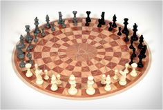 3 MAN CHESS - not that I know anything about normal chess, but that is a cool chess board!
