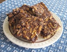 Chocolate Fudge Pecan Pie Bars