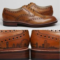 Yup real tattoos to make your grooms shoes extra special. Contemporary Wedding Inspiration, Shoe Tattoos, Men's Shoes, Dress Shoes, Groom Shoes, Groom And Groomsmen Attire, Fashion Shoes, Mens Fashion, Mens Designer Shoes