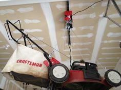 Lawnmower Garage Ceiling Storage