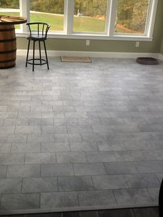 Cement laminate flooring in the #kitchen Photo compliments: Jon S.  #cementflooring #laminate