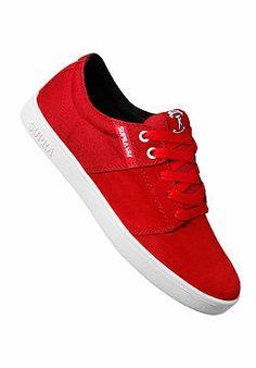 ce95a9fc2d SUPRA Stacks Lowtop Suede - Sneaker für Herren - Rot. Planet Sports
