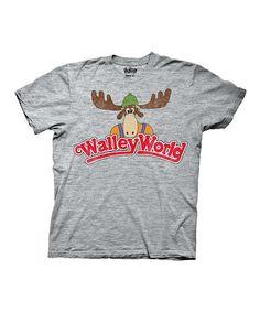 Look at this #zulilyfind! Heather Gray 'Walley World' Logo Tee - Men's Regular #zulilyfinds