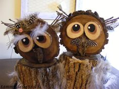 Wood Owls,Live Edge Owls, Reclaimed Wooden Owls, Rustic Owls, Wood Cookie Owls…