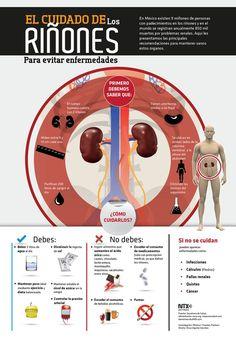 Vive con Diabetes - El cuidado de los riñones #infografias #infographic