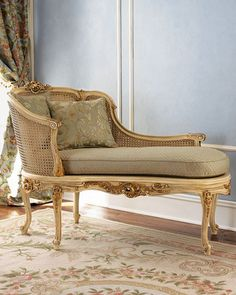 I would love this beautiful caned chaise WITHOUT all the gilt.