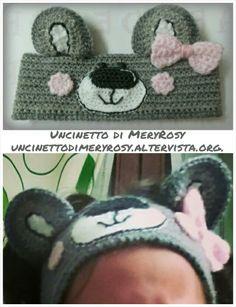 Headband crocheted Girls