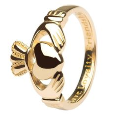 14K Ladies Gold Claddagh, Love, Loyalty, Friendship #Shanore