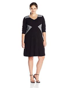 online shopping for Calvin Klein Women's Plus-Size Long-Sleeve Blocked V-Neck Dress from top store. See new offer for Calvin Klein Women's Plus-Size Long-Sleeve Blocked V-Neck Dress Plus Clothing, Calvin Klein Women, V Neck Dress, Long Sleeve Sweater, Dresses Online, Plus Size Women, Beautiful Dresses, Fashion Brands, Image Link