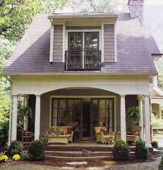loft & cottage: from the idea book: architecture// I like this very much I would love to have this house there's others on there that are just pretty she has the same taste in colors as I do Thank You Casey from loft and cottages Style Cottage, Cute Cottage, Cottage Living, Cottage Porch, Living Room, Lavender Cottage, Craftsman Cottage, House Porch, Craftsman Kitchen