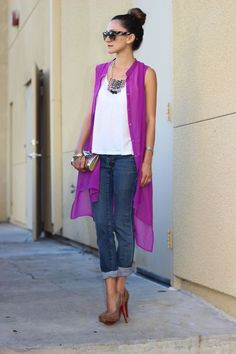 How to Pull Off Sheer Clothing - gilet Layering Outfits, Casual Outfits, Cute Outfits, Western Outfits, Look Fashion, Fashion Outfits, Womens Fashion, Lila Jeans, Casual Chic