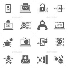 Hacker Icons — Photoshop PSD #vector #computer • Available here → https://graphicriver.net/item/hacker-icons/11004730?ref=pxcr