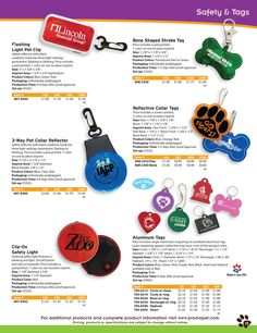 Personalized Pet Safety Items and Dog Tags