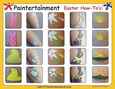 I had so much fun coming up with Easter cheek art designs for my March e-newsletter , I just had to share all of these how-to's with you! Th...