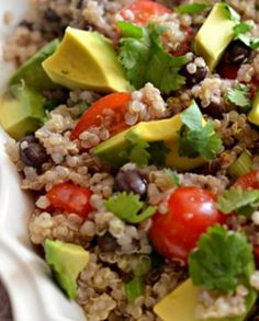 Zesty Quinoa Salad recipe. This salad will stay fresh in the heat of your summer picnic or as a great side to an evening dinner al fresco!