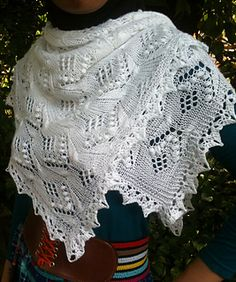 Butterfly Square Shawl  Square lace shawl inspired by traditional Haapsalu in butterfly motif, modified with crocheted edging