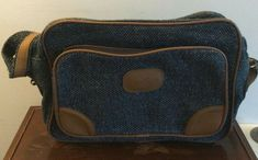 Pierre Cardin blue tweed carry on bag Carry On Bag, Pierre Cardin, St Kitts, Men's Accessories, Tweed, Blue, Ebay, Tote Purse, Hand Luggage