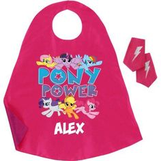 Personalized My Little Pony Pony Power Pink Super Cape And Cuff Set, Toddler Girl's, Red