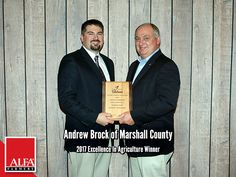 Excellence In Ag Winner Andrew Brock of Marshall County Young Farmers, Create Awareness, Alabama, Leadership