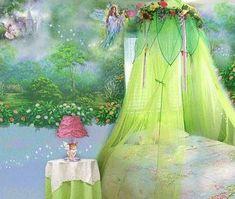 Fairy bedroom, paint a woodland fairy mural.