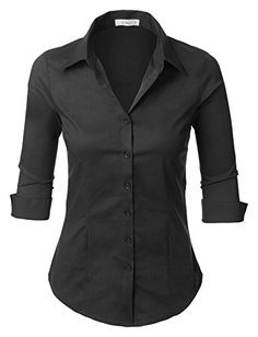 LE3NO Womens Short Sleeve Button Down Shirt ($19) ❤ liked on ...