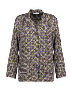 Sandro Floral Shirts & Blouses In Cocoa Twill Shirt, Sandro, Satin, Shirt Dress, Coat, Long Sleeve, Sleeves, Mens Tops, Floral Shirts