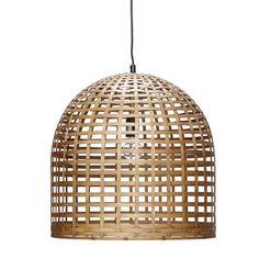 Hängeleuchte / Lampe  Bambus von Hübsch Interior